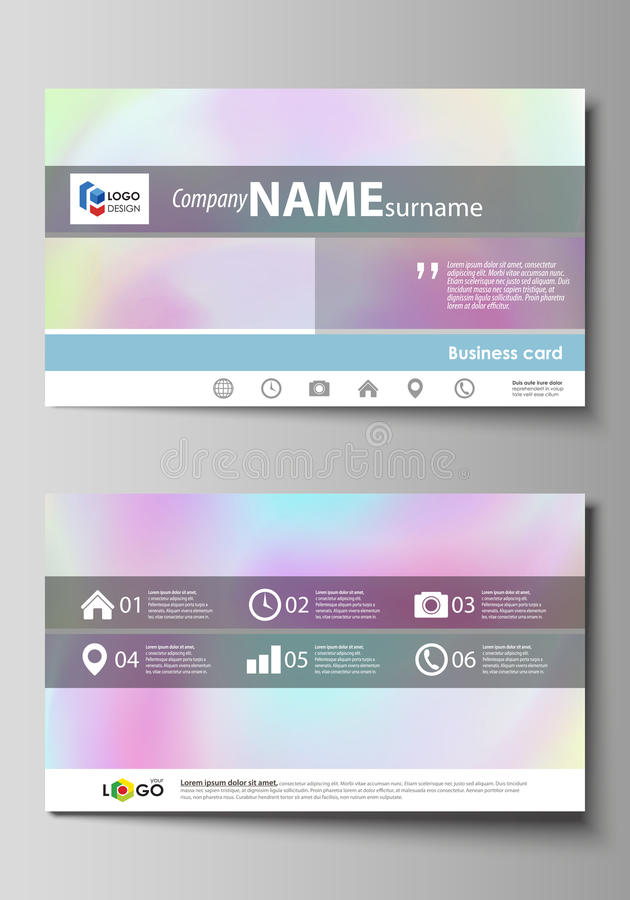Business Card Templates. Easy Editable Layout, Abstract Vector ...