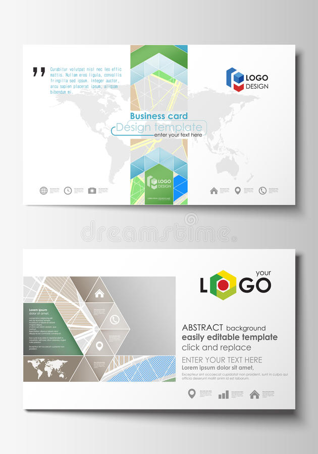 Business Card Templates. Easy Editable Layout. City Map With Streets ...