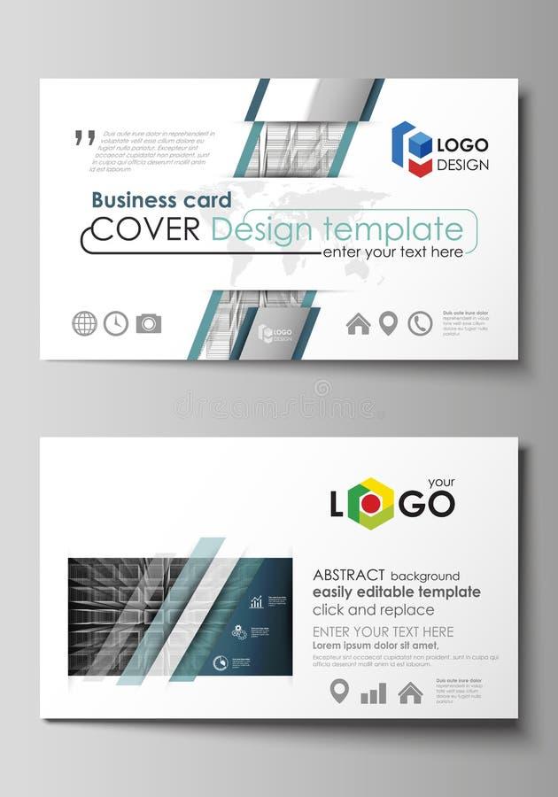 Business Card Templates Easy Editable Layout Vector Design - 3d business card template