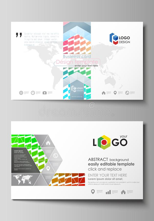 Business Card Templates. Easy Editable Layout, Vector Design ...