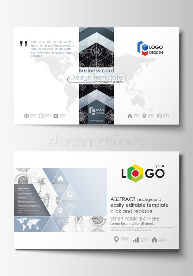 Business Card Templates. Easy Editable Layouts, Flat Style Template ...
