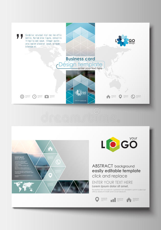 Business card templates flat design blue color travel decoration download business card templates flat design blue color travel decoration layout easy editable vector colourmoves