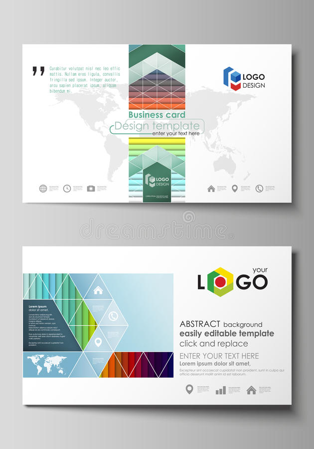 Go Style Template | Business Card Templates Vector Layout Flat Style Template Bright