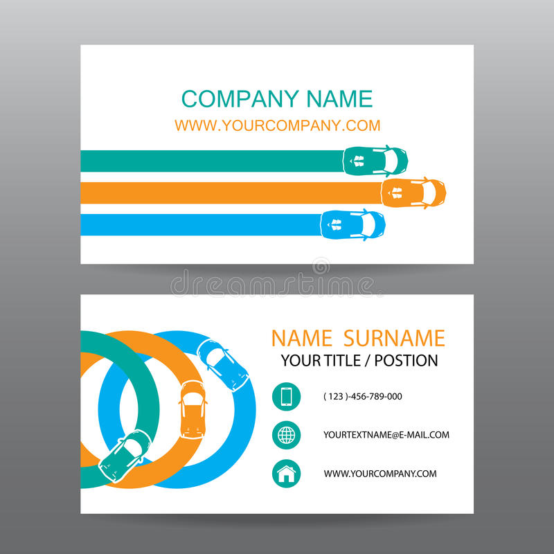 Business Card Vector Background,car Salesman Stock Vector ...
