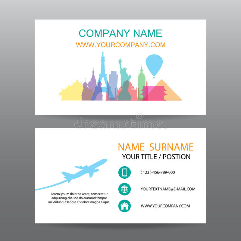 Business card vector background guide tour companies stock vector download business card vector background guide tour companies stock vector illustration of calling colourmoves