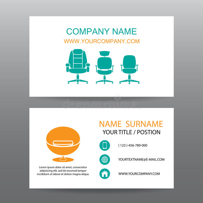 Business card vector background,Home Office vector illustration