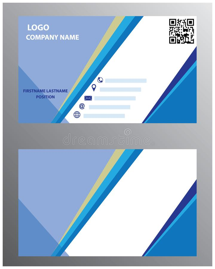 Business card vector royalty free illustration