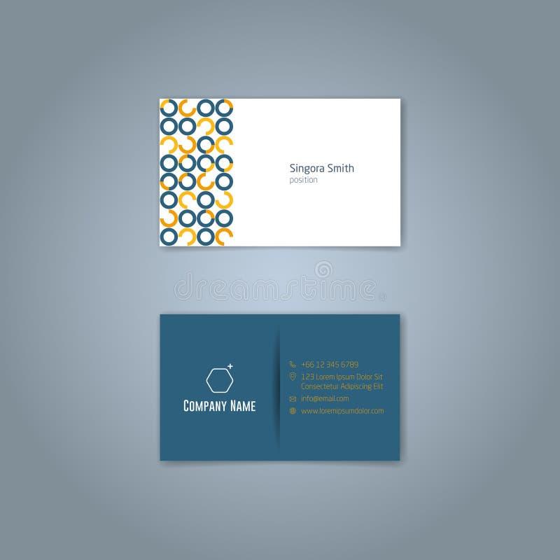 Business card 4. Vector Modern Creative Business Card Template stock illustration