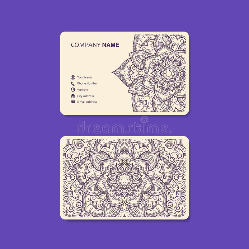 Business Card. Vintage decorative elements. stock photos