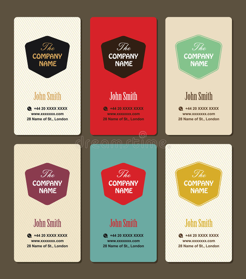 Business Card Vintage Style Vector Design Template Stock Vector ...