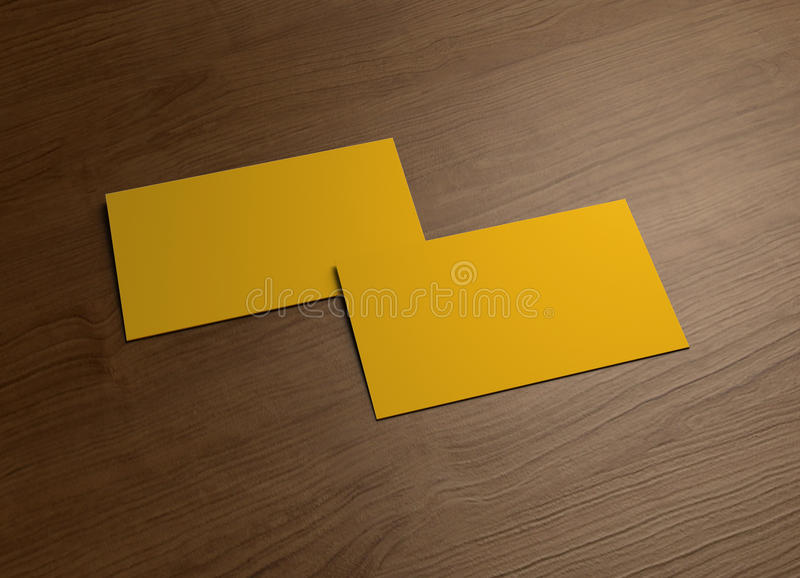 Download Business Card On Wood Table 2 Stock Illustration - Image: 24139387