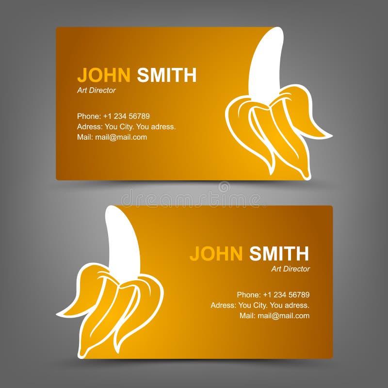 Business Card Yellow Banana Stock Vector - Illustration of beautiful ...