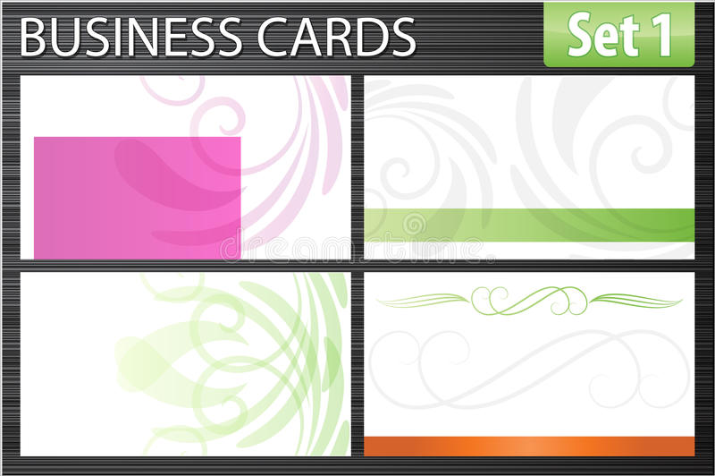 Business cards stock illustration
