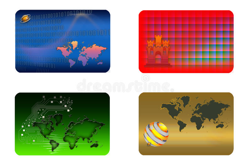 Business cards. royalty free stock images