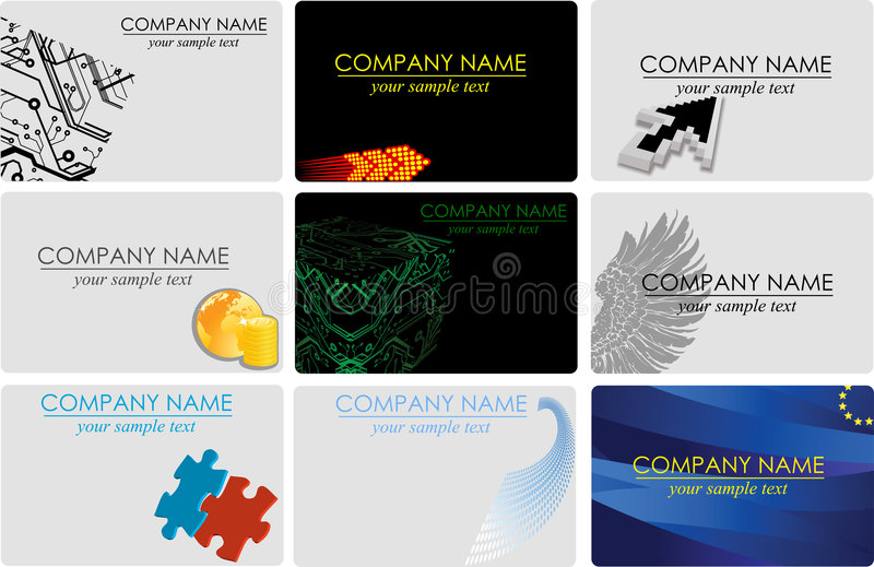 Download Business cards stock vector. Illustration of grunge, graphic - 6673982