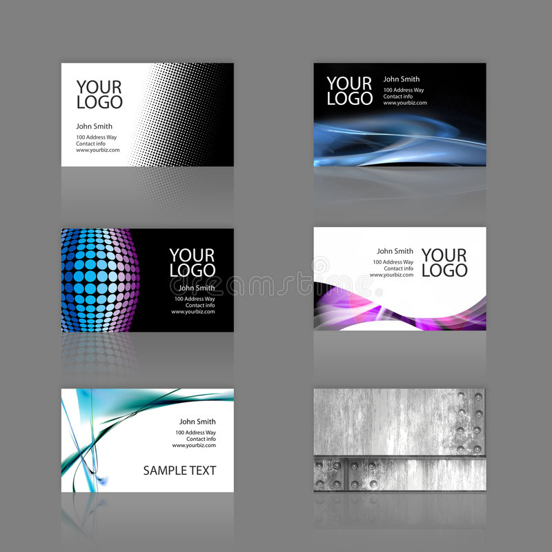 Free Business Cards Assortment Royalty Free Stock Photography - 5583277