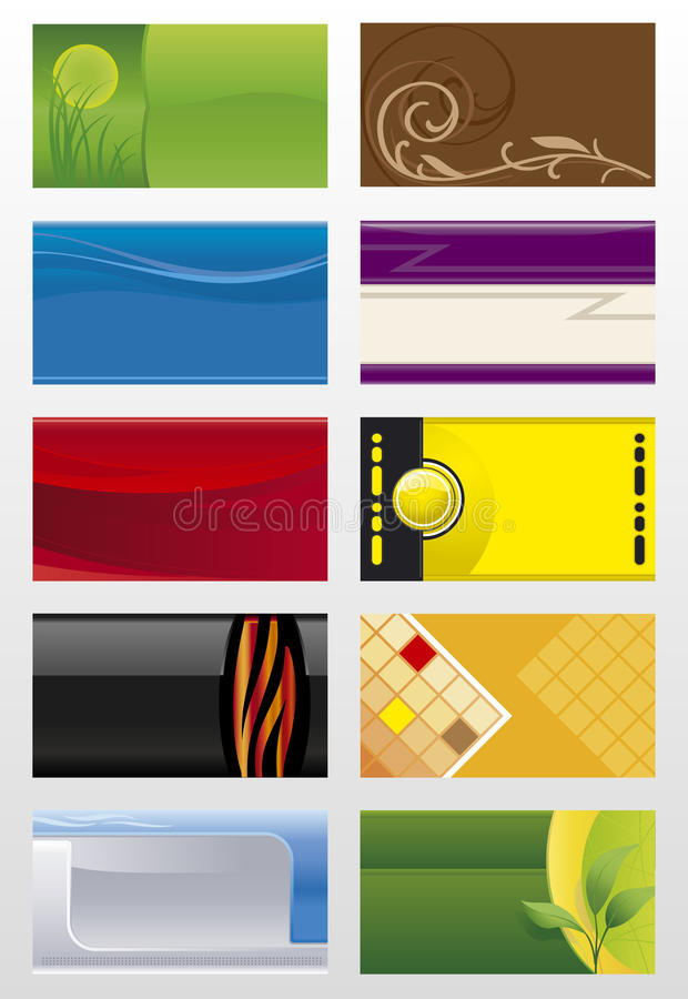 Business cards backgrounds vector illustration