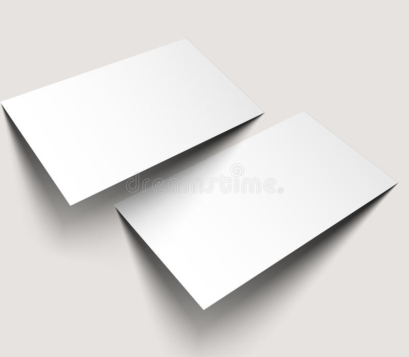 Business Cards Blank Mockup Stock Vector - Illustration of ...