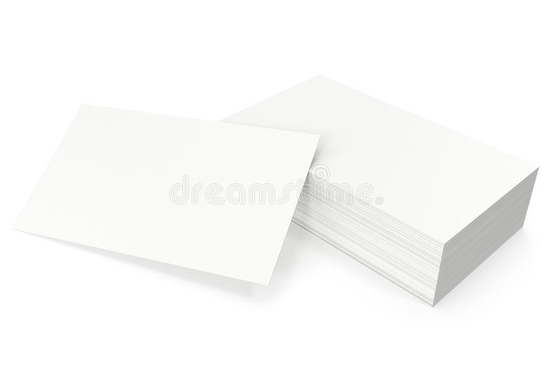 Business cards blank mockup, template, on white background, 3d rendering royalty free stock images