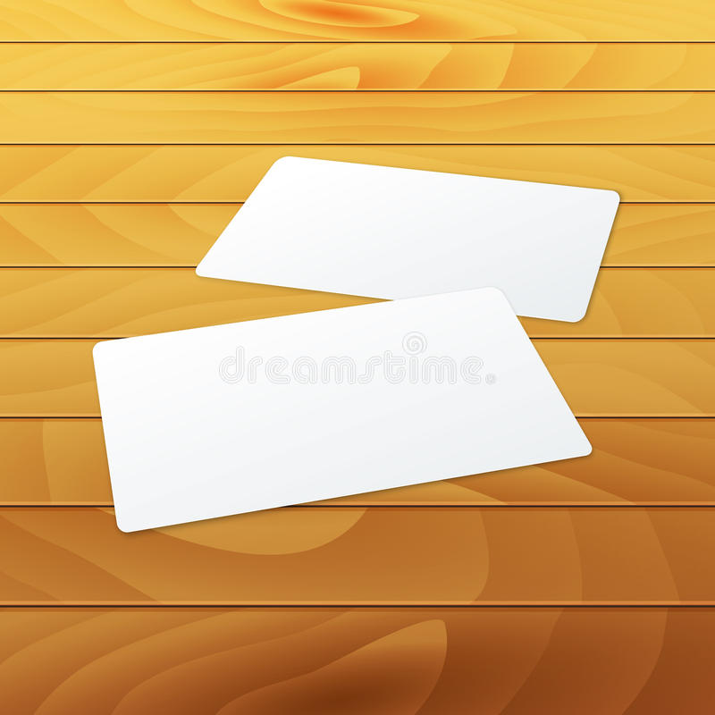 Business cards blank mockup template on wood stock vector download business cards blank mockup template on wood stock vector illustration of identity clean reheart Image collections