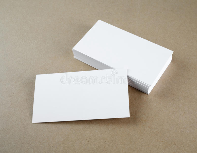 Business cards. Blank business cards. Template for branding identity stock photography