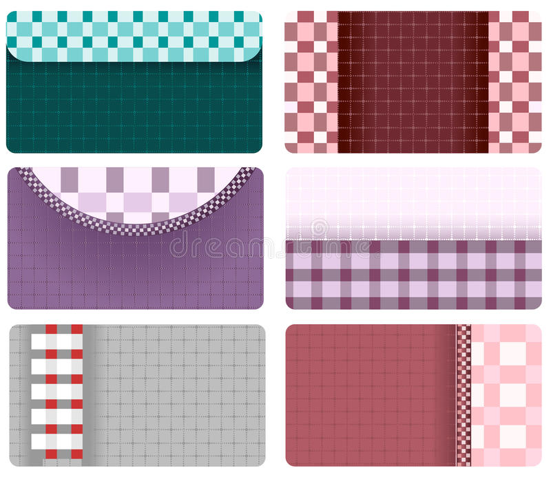 Download Business Cards Of Checkered Fabric Stock Vector - Image: 28101716