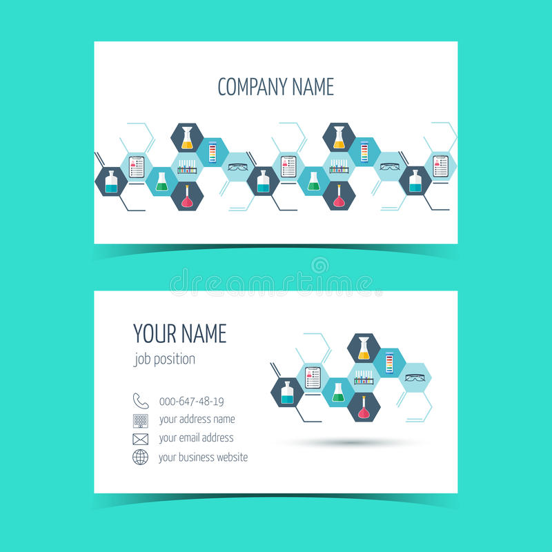 Business cards for chemical and scientific companies vector stock business cards for chemical and scientific companies vector illustration colourmoves