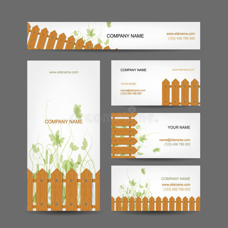 Business Cards Design, Country Style Stock Vector - Illustration of ...