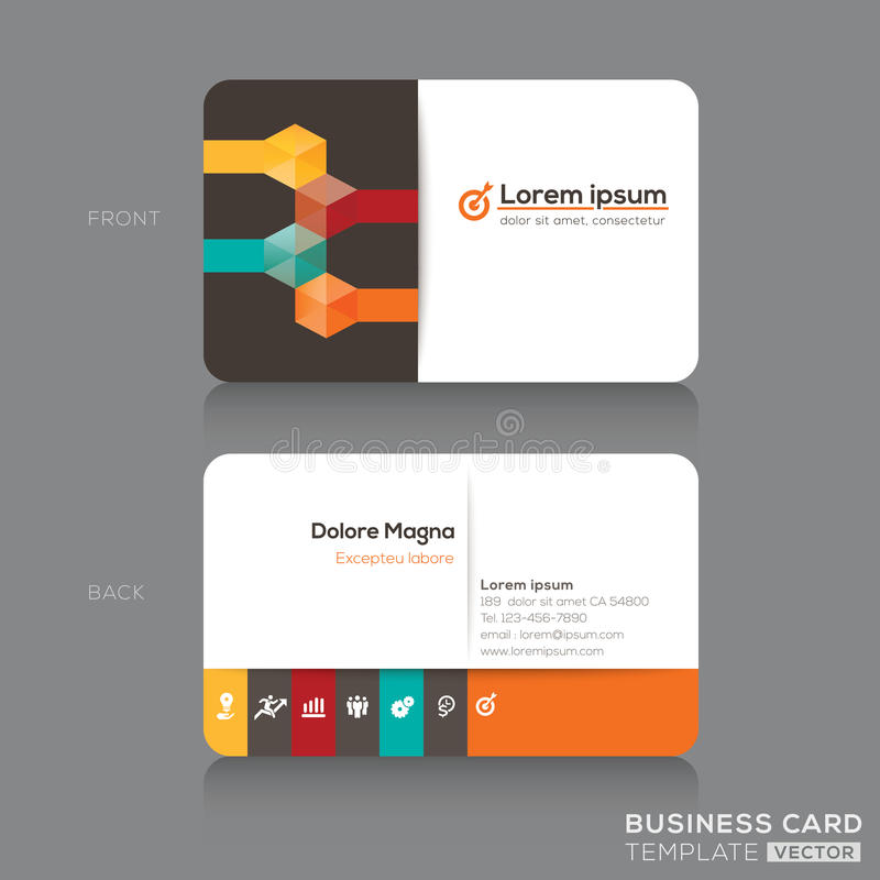 Download Business Cards Design Template Stock Vector - Image: 37485057