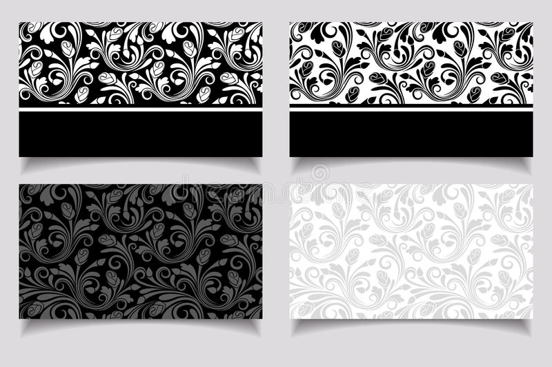 Business cards with floral patterns vector eps 10 stock download business cards with floral patterns vector eps 10 stock illustration illustration reheart Choice Image