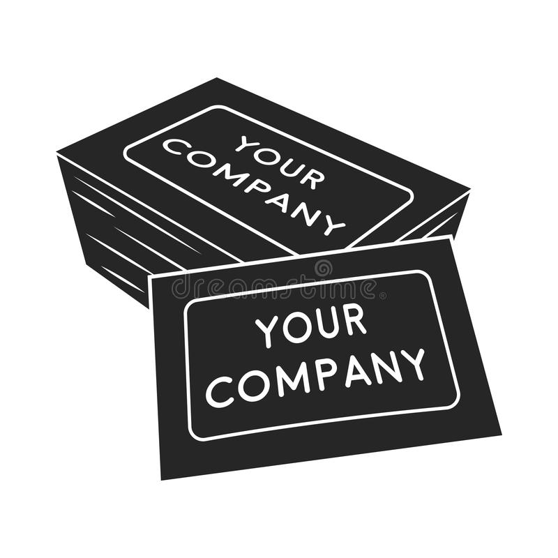 Business Cards Icon In Black Style Isolated On White Background ...