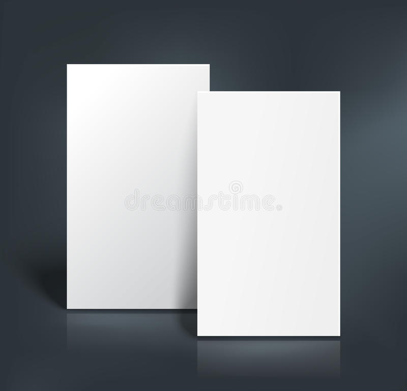 Free Business Cards Mockup. Vector Illustration Stock Photos - 57566293