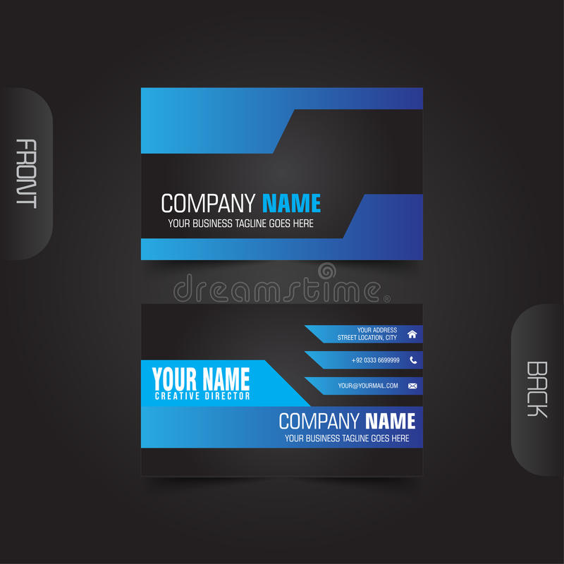 Business Cards. Modern Corporate Business Card Vector vector illustration