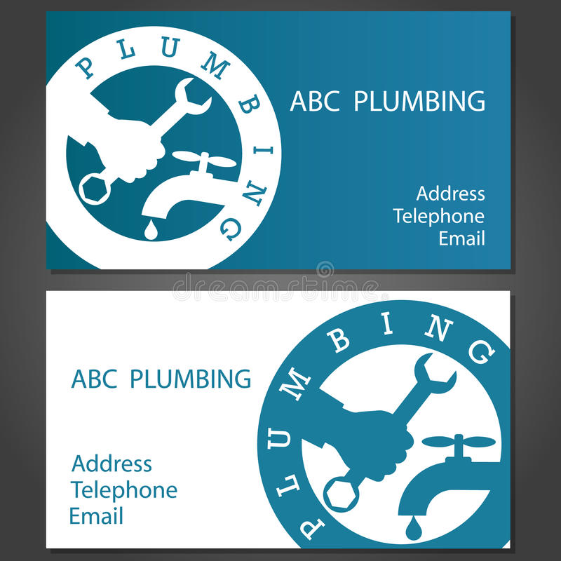 Business Cards For Plumbers Stock Vector - Illustration of badge ...