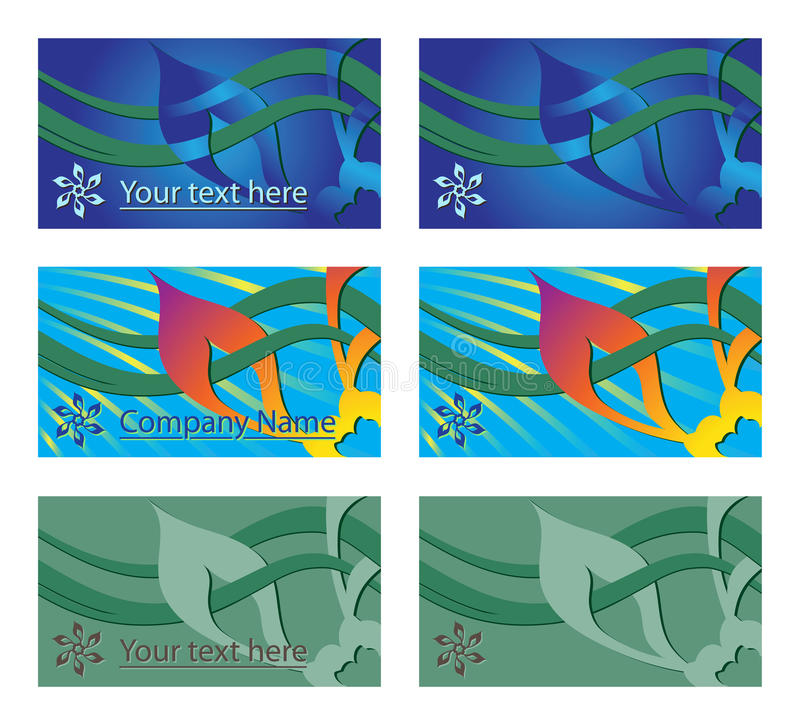 Business Cards and Price Tags royalty free illustration