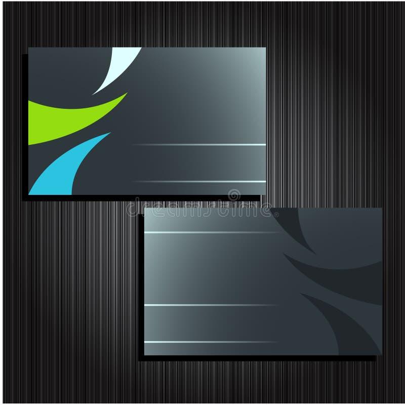 Business cards set 25 stock illustration