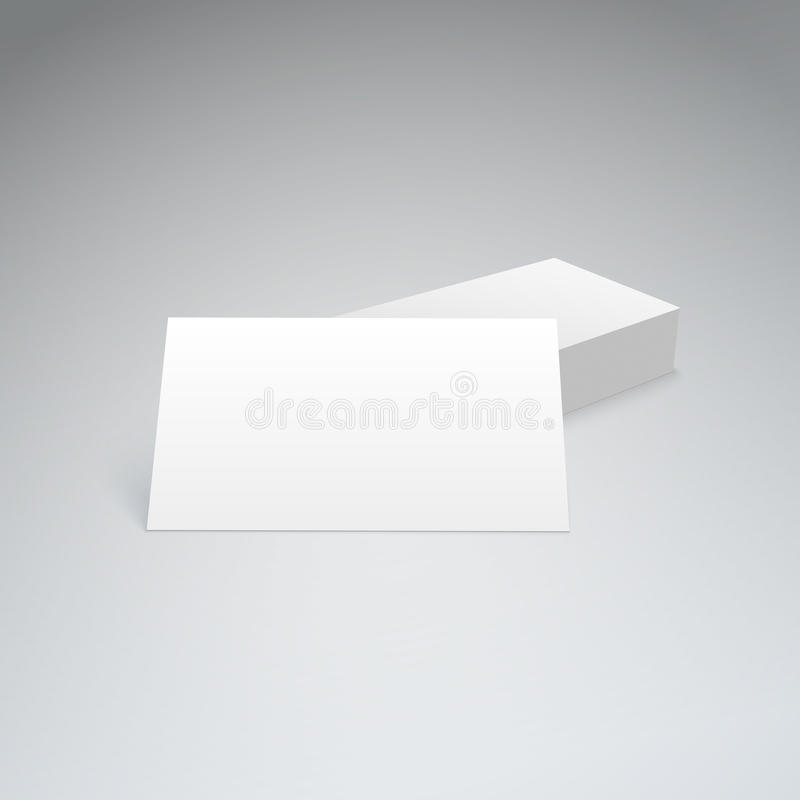 Business cards with soft shadow royalty free illustration