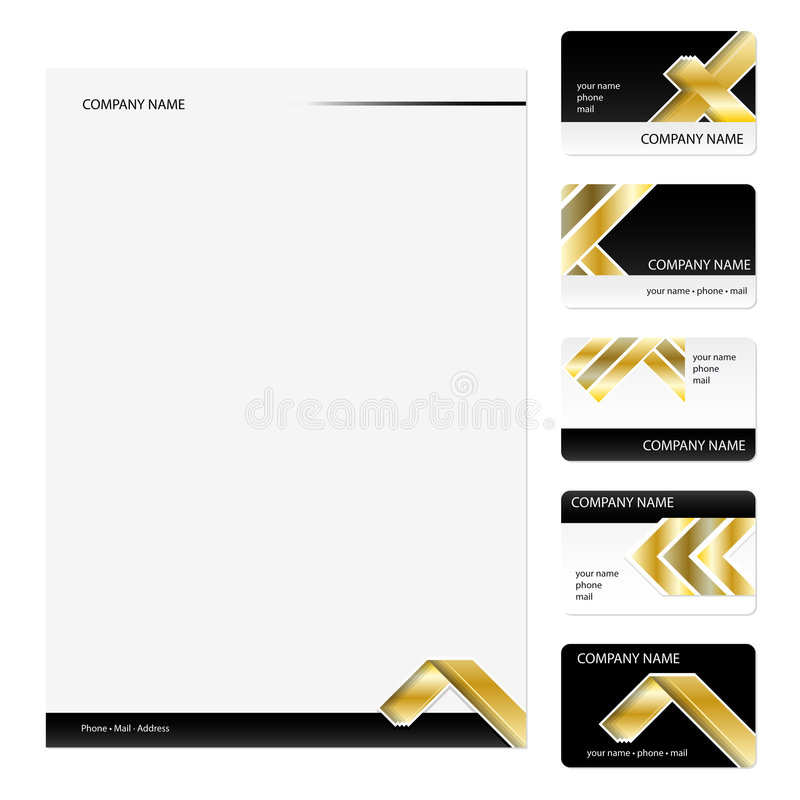 Business Cards Template royalty free stock images