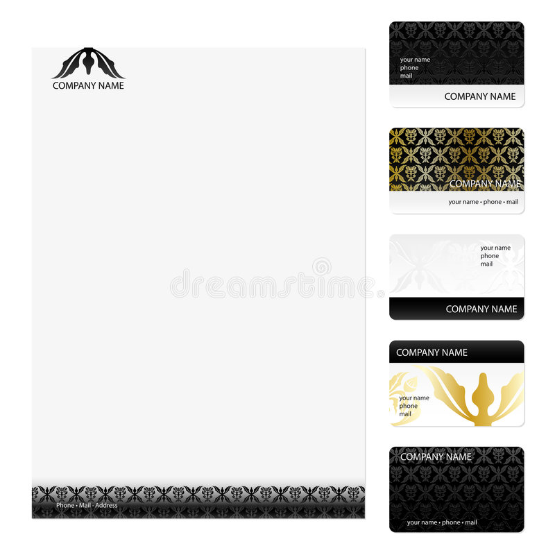 Business Cards Template royalty free stock photos