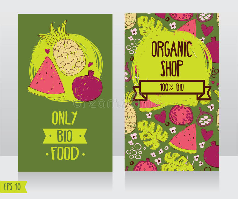 Business cards template for organic foods shop or vegan cafe stock download business cards template for organic foods shop or vegan cafe stock vector illustration of cheaphphosting Image collections