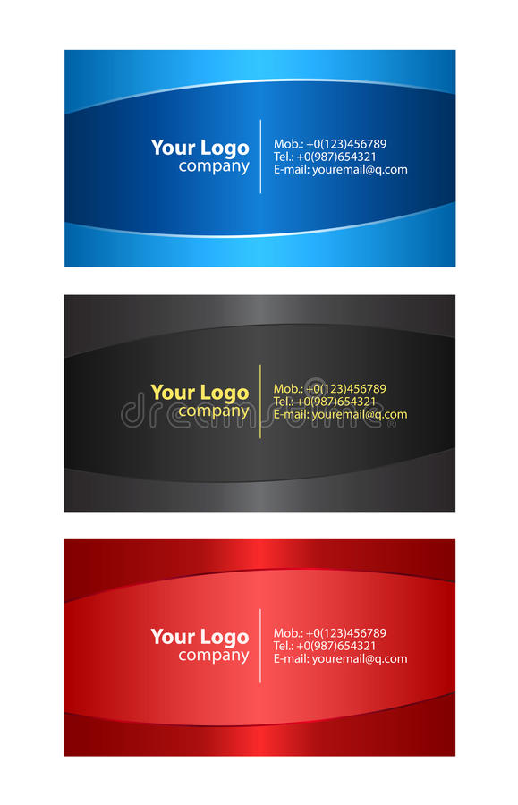 Download Business cards templates stock vector. Illustration of graphic - 12461194