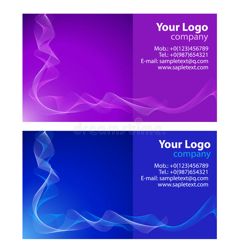 Download Business cards templates stock vector. Image of sample - 12537285