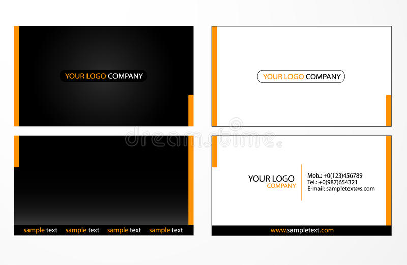 Business cards templates. Creative business cards templates collection stock illustration