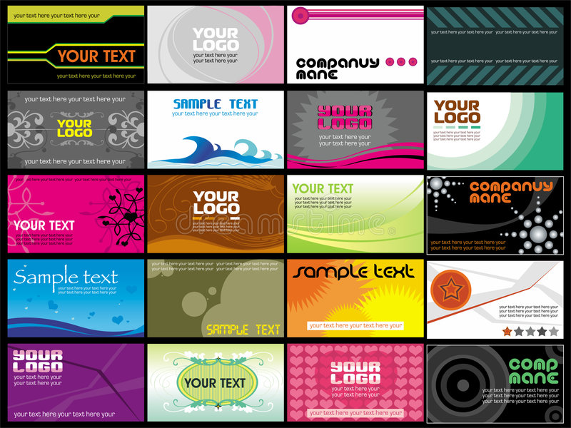 business cards templates 3 royalty free illustration