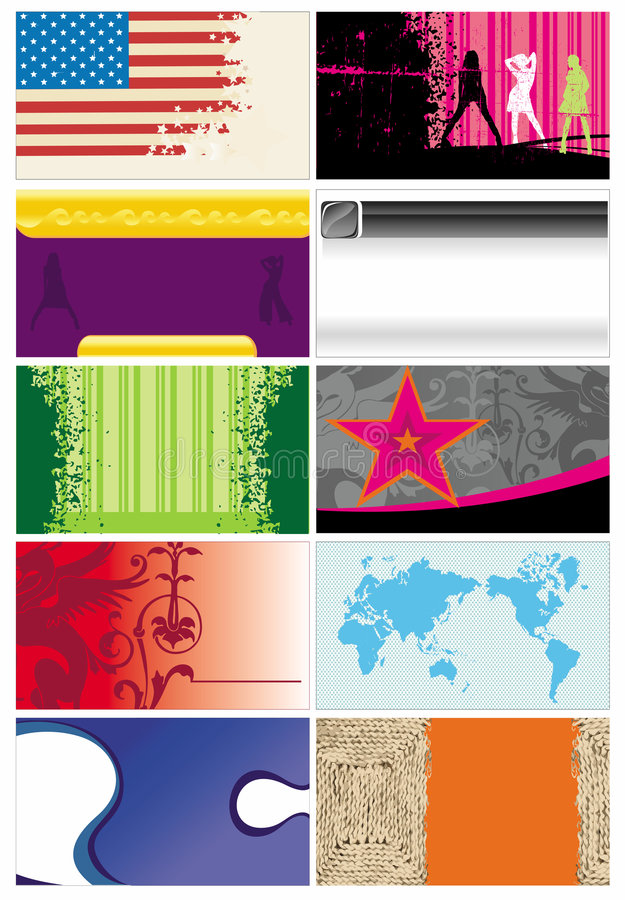 Business cards templates 5 vector illustration