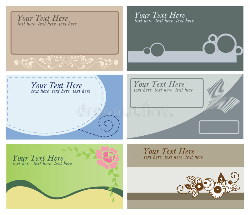 Business Cards Templates Stock Photography