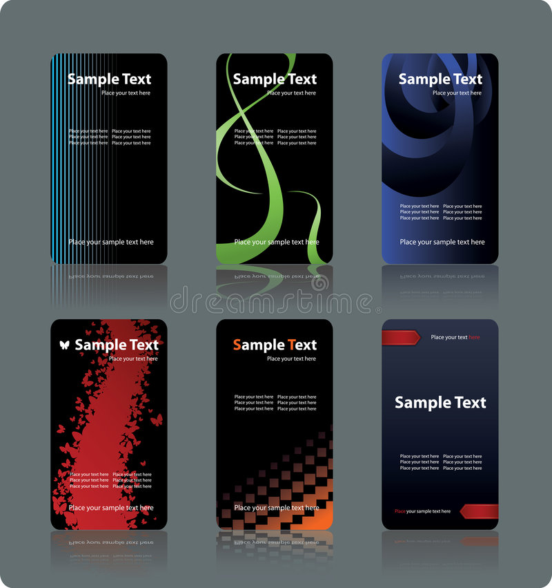 Download Business cards templates stock vector. Image of multi - 9216799
