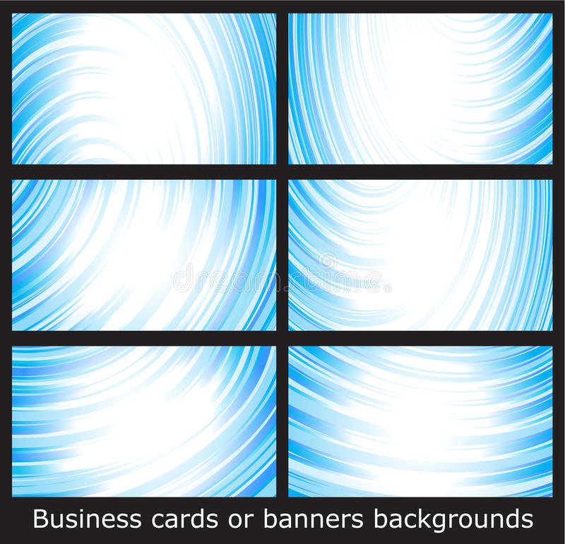 Business cards templates or banners backgrounds stock illustration
