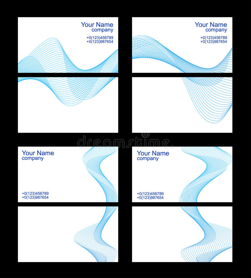 Business Cards Templates Front And Back Stock Vector Image - Front and back business card template