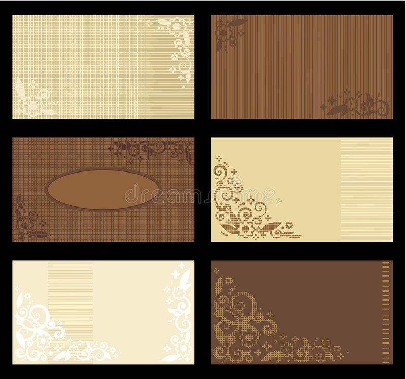 Business cards templates, tan and brown stock illustration